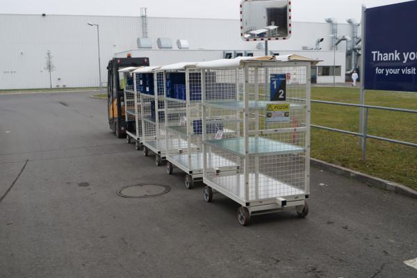 Vozík pro přepravu KLT obalů